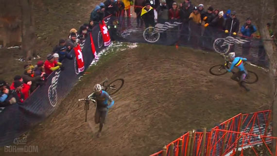 Screencap Recap: 2013 UCI Cyclocross World Championships - Klaas First Mistake