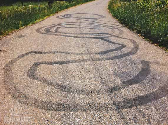 The Gravel Grind/Chip-Seal Ordeal: A Photo Essay Of Incredible Length And Breadth - Redneck Street Art