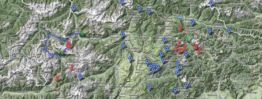 Tour De France Climbs Alps Map