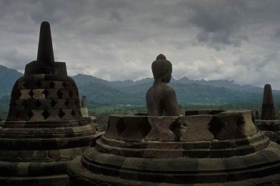 the famous Borobudur