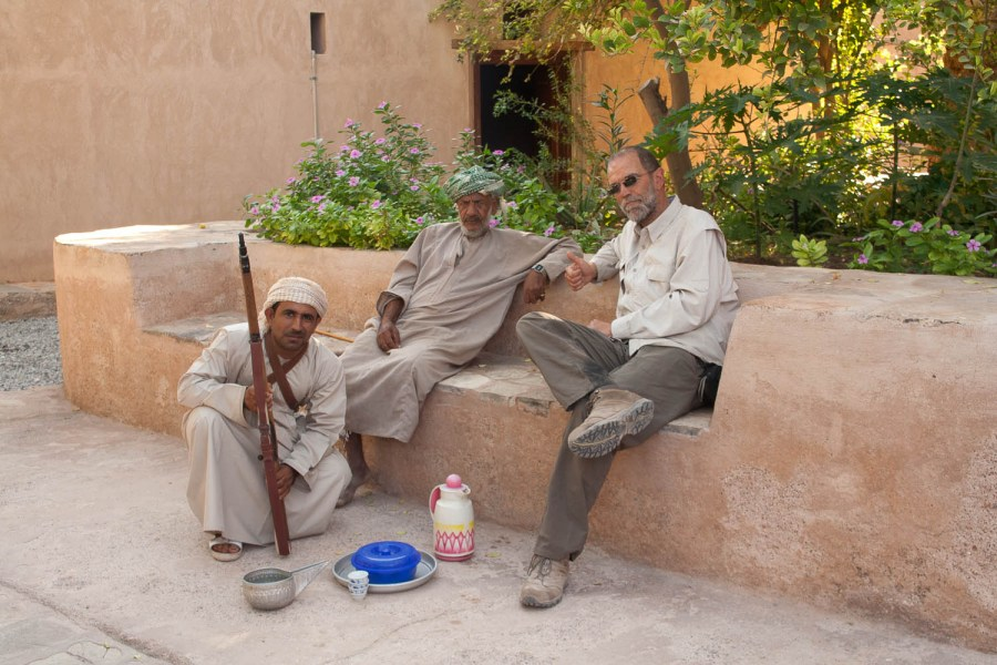 although the fort was closed we were invited for coffee and dates at Al Hazm