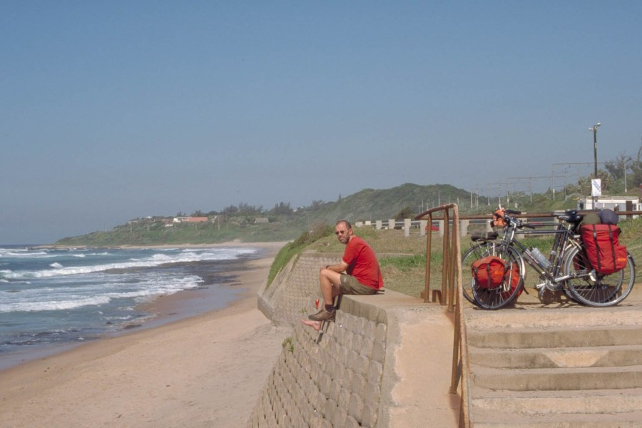 enjoying sun and sea along the ocean road south of Durban