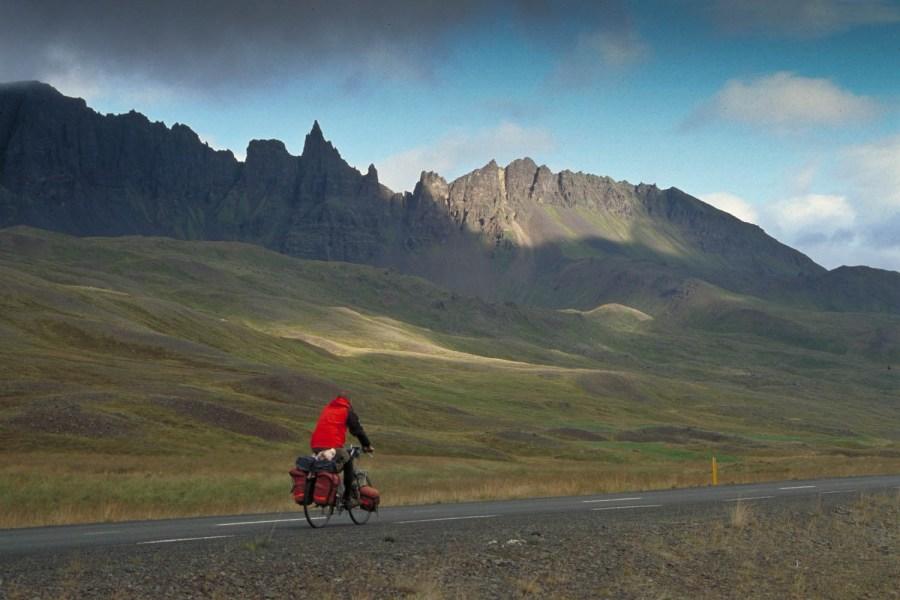 cycling on the Ring Road near Akureyri
