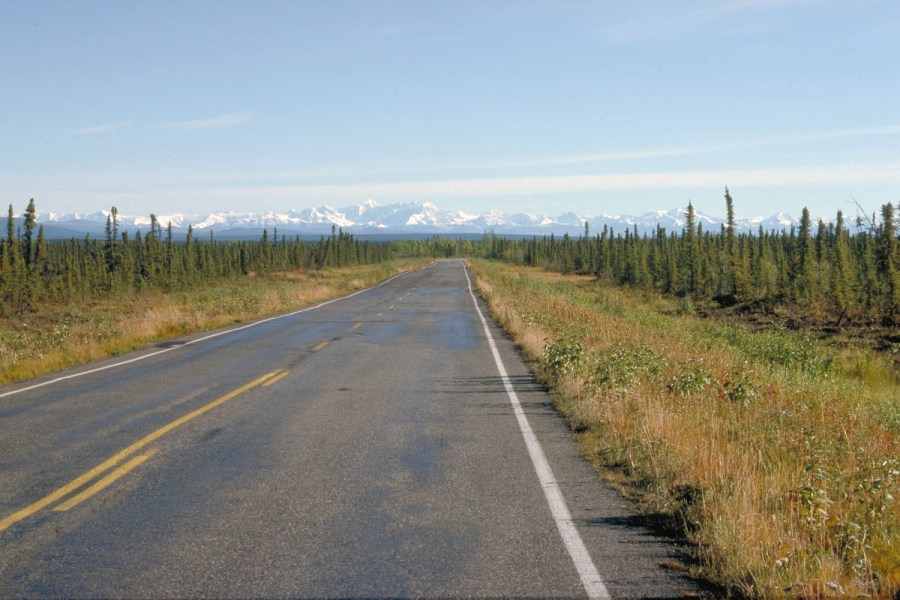 Section of the Richardson Highway just south of Paxson