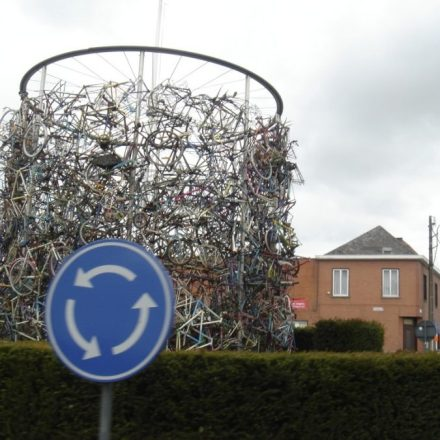 Broken Bike parts - Roundabout in Brakel, Belgium - Image copyright Cristi Ruhlman