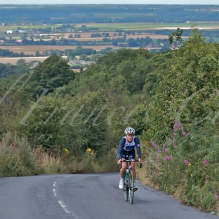 Lucy Martin Reaching Summit of Shayley Brow Training for 2012 Lotto-Decca Tour - © Paul Francis Cooper