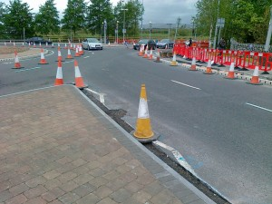 Widening pedestrian & cycle lane 2