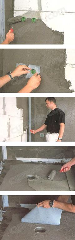 Membrana impermeable bicomponente Ardex 8+9 para suelos y paredes 01