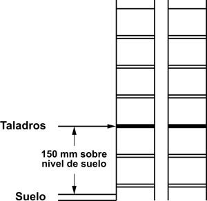 SikaMur® InjectoCream-100. Muro con cámara de aire