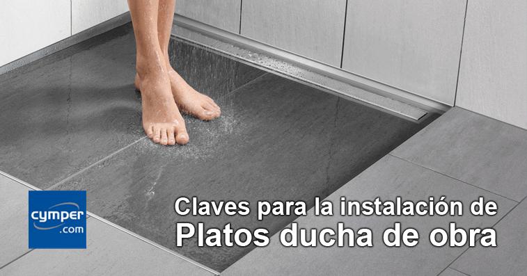 Claves para la instalaci n de platos de ducha de obra cymper - Como instalar un plato de ducha acrilico ...