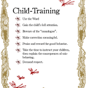child-training poster