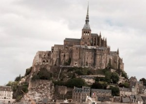 Mont-Saint-Michel on a Grey Morning