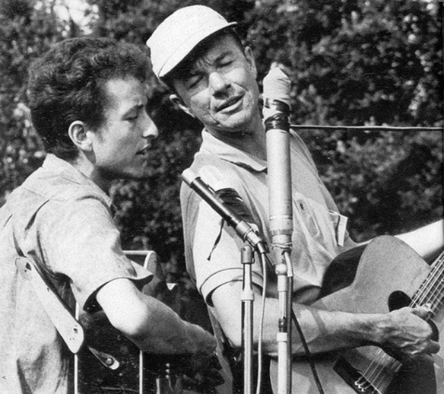 Pete Seeger with Bob Dylan