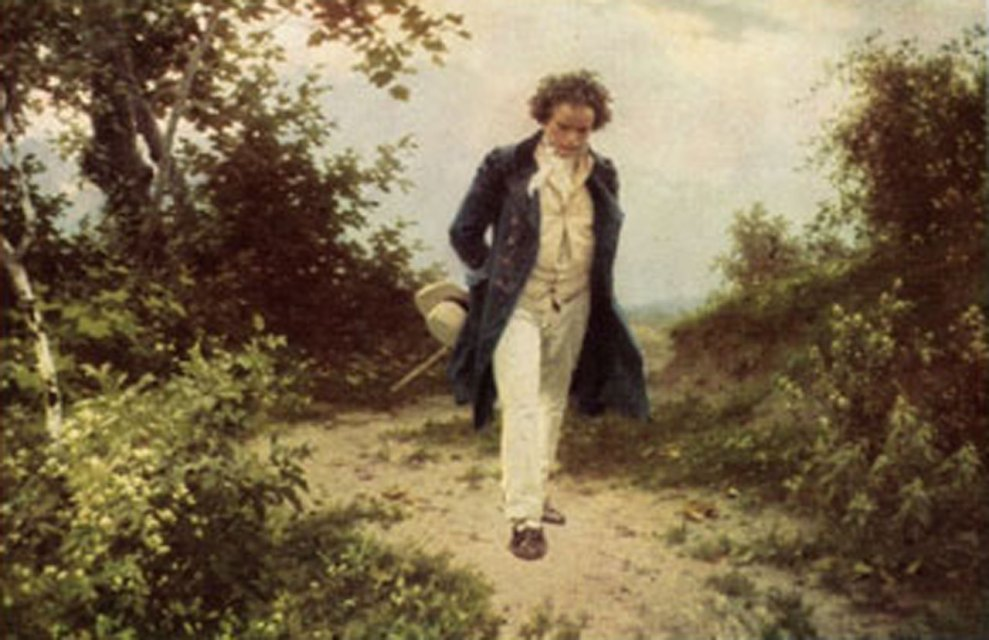 4-Beethoven-walking-in-the-woods
