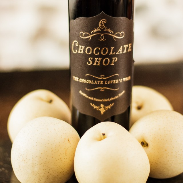 Asian Pears Poached in Chocolate WineIMG_0007_