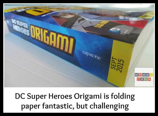 DC Super Heroes Origami is folding paper fantastic, but challenging