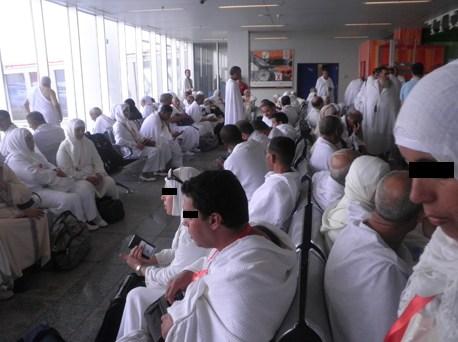 إغماءات في صفوف حجاج ورزازات وزكورة جراء تأخر الطائرة بمطار الدار البيضاء