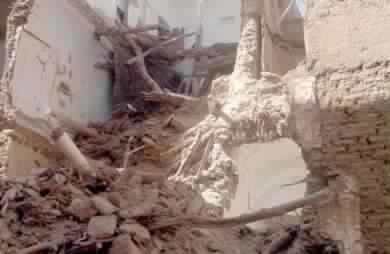 انهيار عدة منازل بدوار وينتجكال(ورزازات) بسبب الأمطار و الدوار معزول عن العالم الخارجي