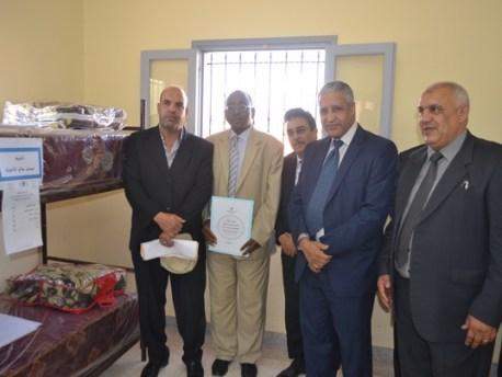 توزيع أثاث الداخليات هبة مجلس جهة سوس ماسة درعة في نيابة زاكورة