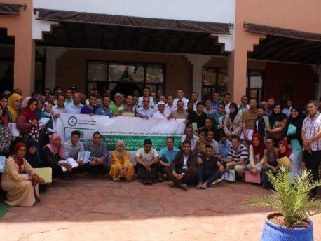 ورزازات : جمعية الواحة الخضراء للتنمية و الديمقراطية تعطي الانطلاقة للمرحلة الثانية من برنامج اعداد برامج عمل ست جماعات  بالإقليم