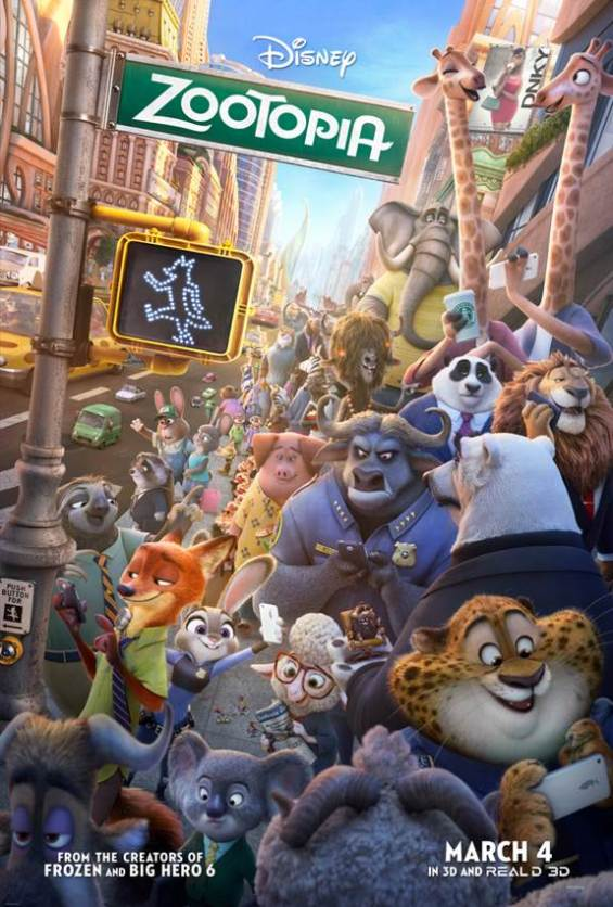 ZOOTOPIA is Walt Disney Animation Studios next release (opening in theatres on March 4th)