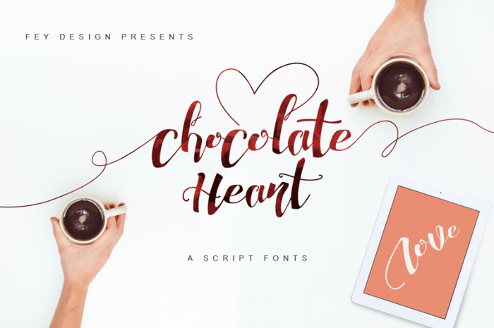 Chocolate Heart Font   Download