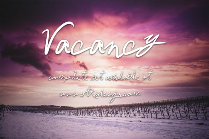 Vacancy Font Download