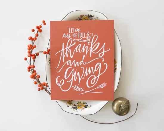 Thanksgiving Thanks & Giving print