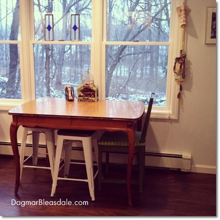 Target stools for shabby chic country kitchen