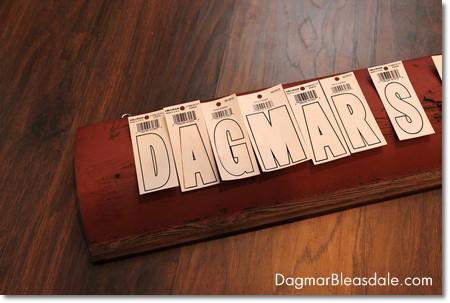 letter sticker for DIY sign