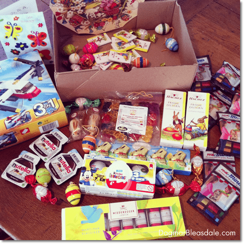 German chocolate and gummi bears care package