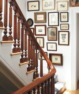 stairwell gallery wall