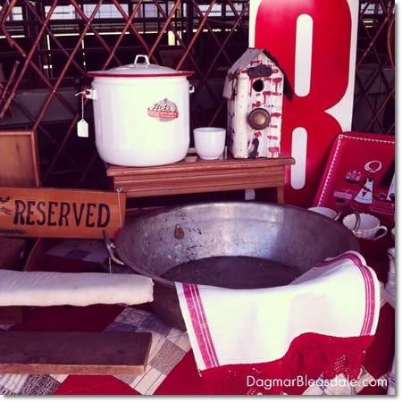 vignet of vintage things at the Country Living Fair 2014
