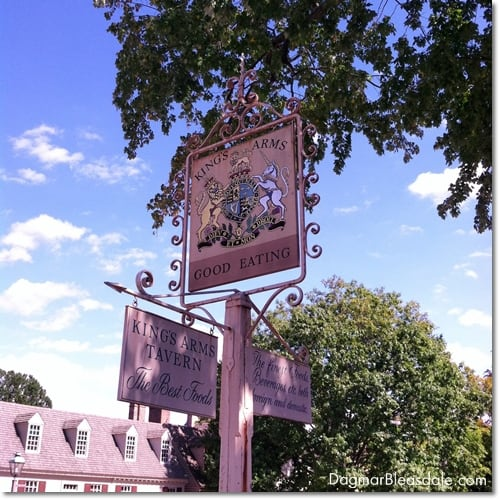 King's Arms Tavern in Colonial Williamsburg, VA