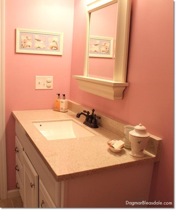 pink cottage bathroom