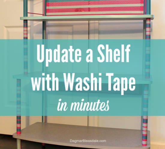 update a shelf with washi tape