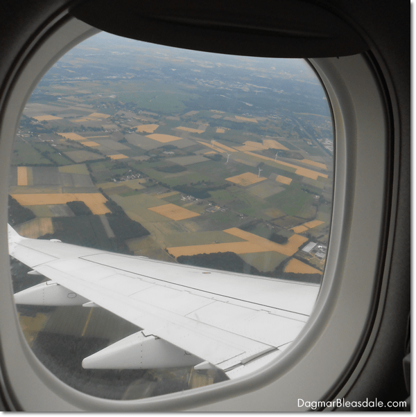 view of Bremen, German, from a plane