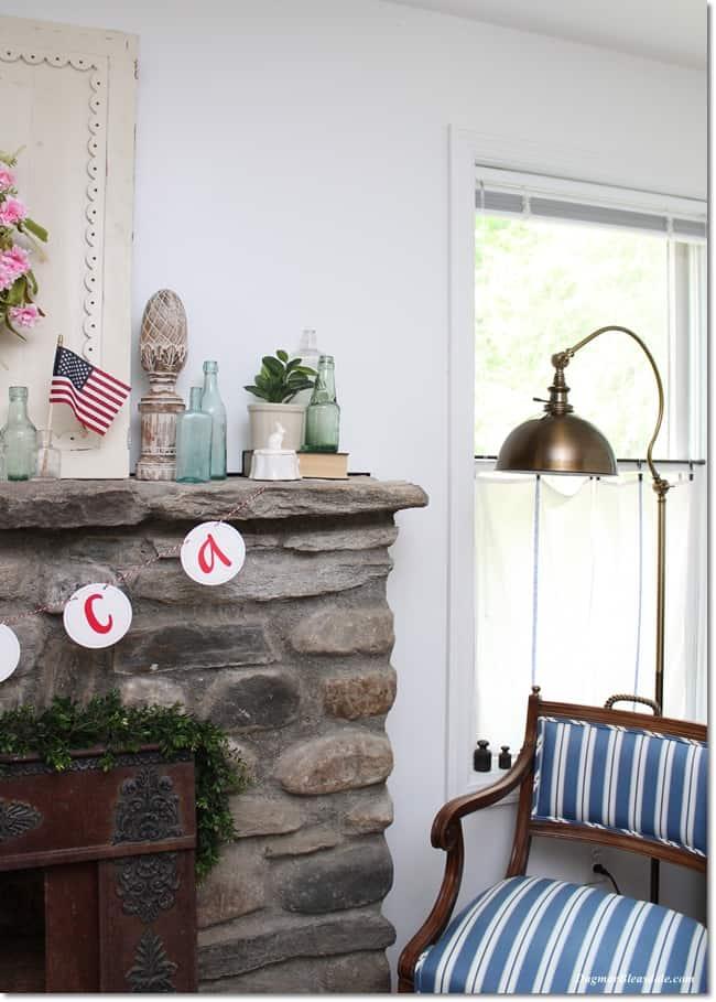 patriotic cottage decor, DagmarBkeasdale.com