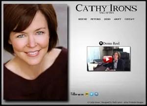 Cathy Irons Actress Website