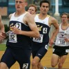 Steve Sodaro (front) took second in his heat in Eugene, Ore. to qualify for NCAAs in the 3,000m steeplechase.