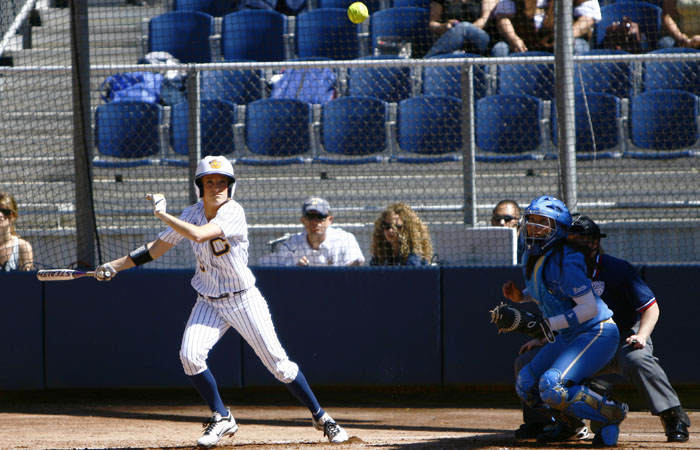 The Cal softball team needed just three runs to beat Louisville for a second time this past weekend.