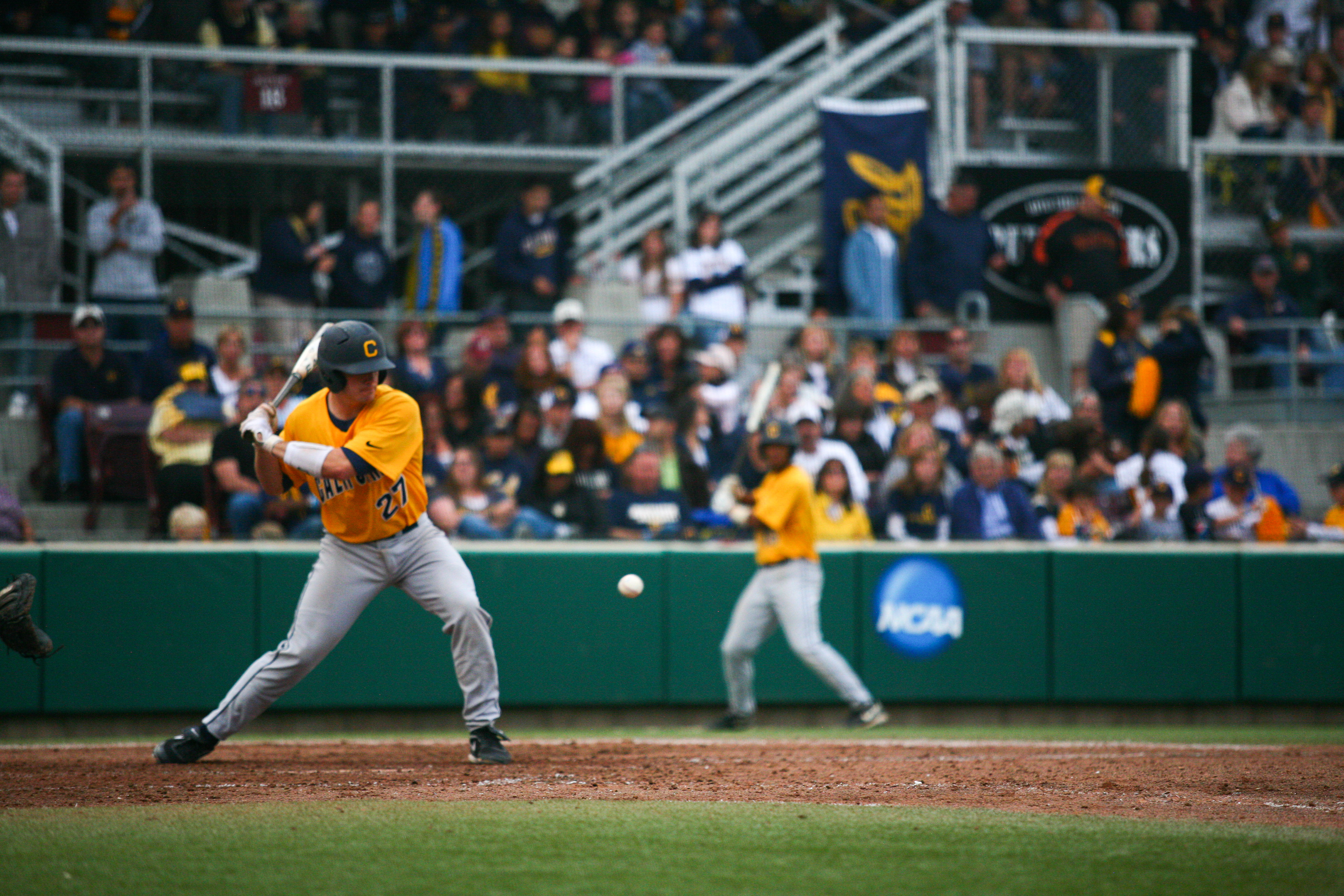 Catcher Chadd Krist went 1-for-4 with a double, Cal's only extra-base hit in its 8-1 loss to Virginia.