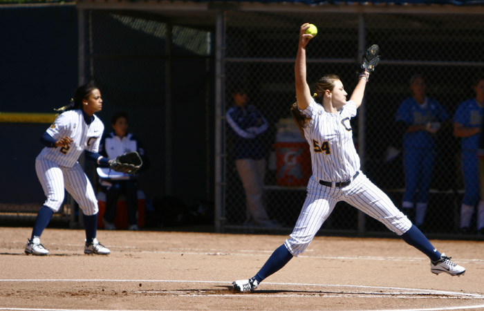Cal ace Jolene Henderson turned in a stellar sophomore campaign in the circle, earning a 40-10 record and tossing 18 shutouts.