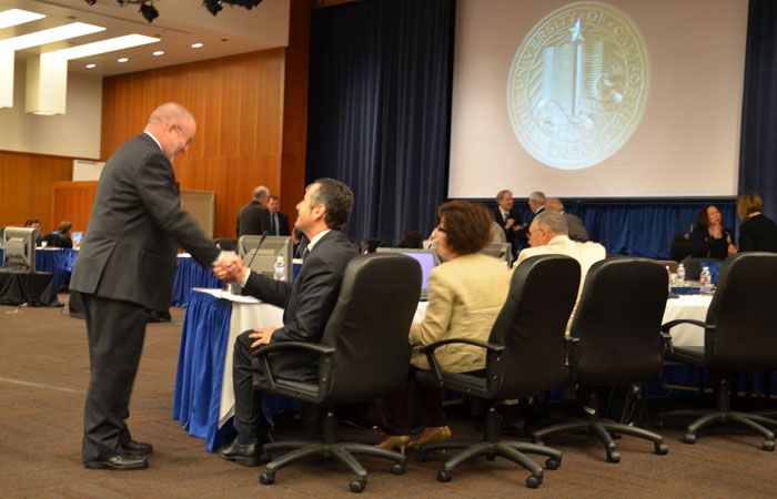 The UC Board of Regents deferred most discussion of a proposed 9.6 percent fee hike to Thursday.