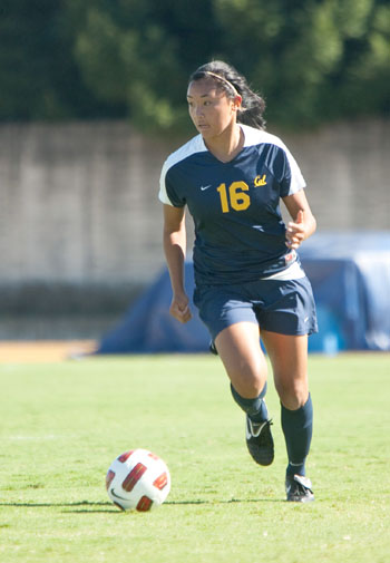 Lauren Battung scored Cal's first goal in its 2-1 overtime win over San Diego State on Sunday. It was her second goal of the year.