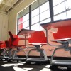 At Berkeley's new charter school, empty classrooms await future students. The school opened its doors Tuesday.