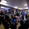 Community members assemble in the Rochdale apartments Common Room to discuss the Increase Diversity Bake Sale event being held September 27, 2011 on Upper Sproul Plaza.  - Eugene W. Lau