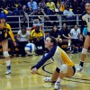 Sophomore defensive specialist Erin Freeman amassed 11 digs over the weekend.