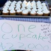 Members of the UC Movement for Efficient Privatization held a bake sale on Upper Sproul Plaza, charging $22,000 per cupcake. This pricing represented the proposed student fee increase to $22,000.