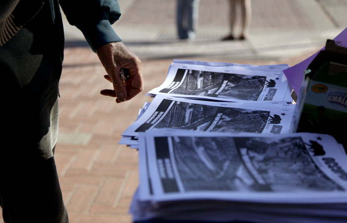 Brochures and flyers across the UC Berkeley campus adverstise the Occupy Cal walkouts planned for Wednesday and Thursday.